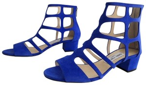 Jimmy Choo Gladiator Cutout Cobalt Sandals