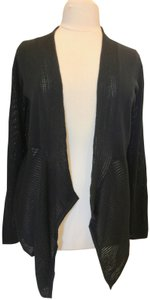 Joan Vass Shark Hem Open Front Cardigan