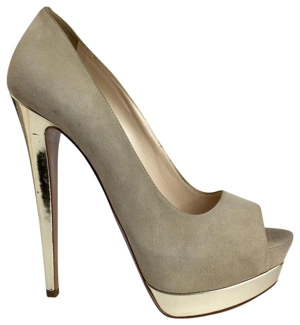 Item - Pre-owned In Great Condition Suede Leather Platforms Size US 8 Regular (M, B)