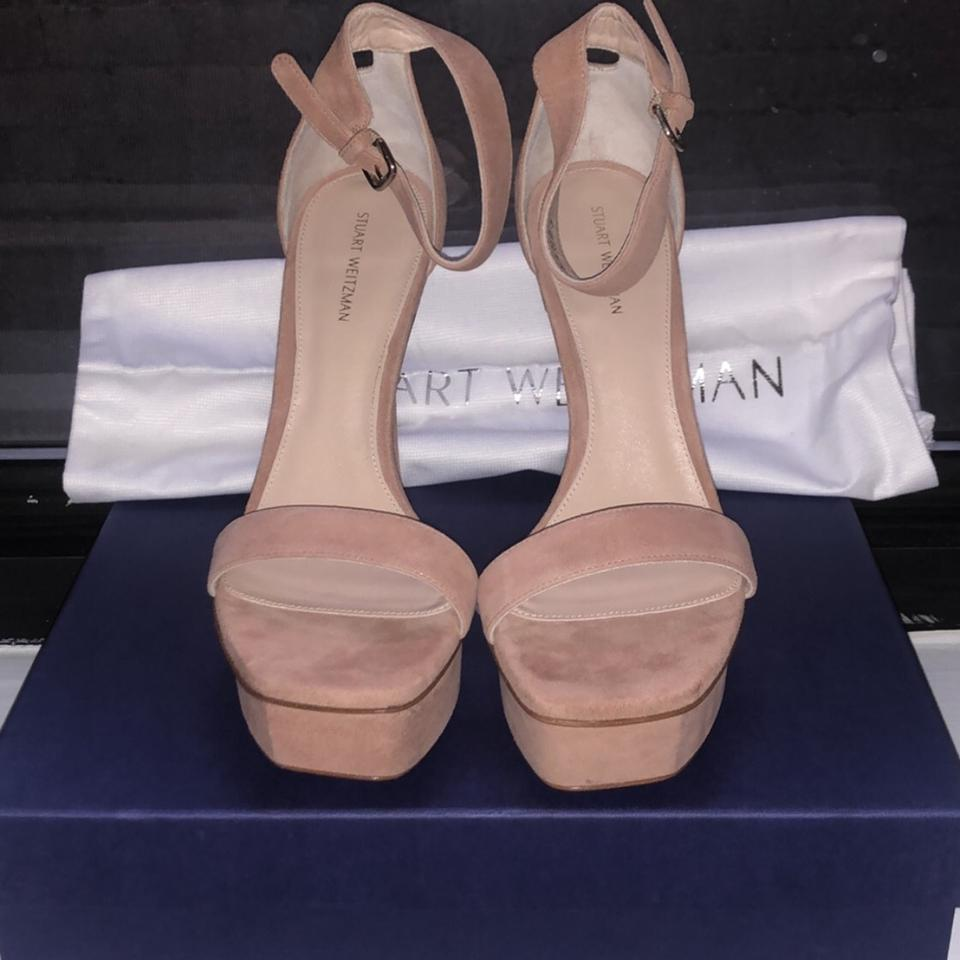 f267c7c40dc Stuart Weitzman Naked Backupplat Platforms Size US 7 Regular (M