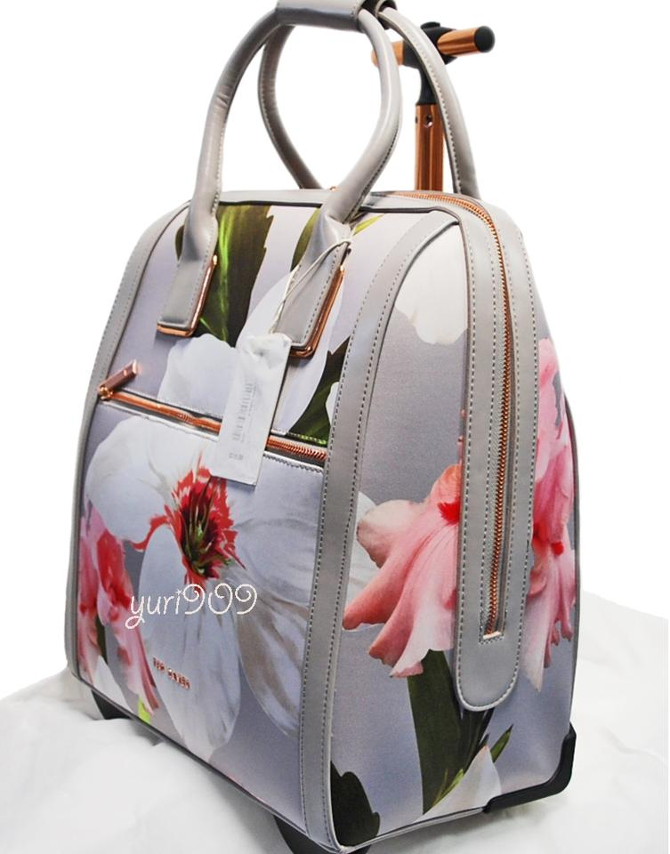 d748e40c7cd87 ... Ted Baker Ordina Chatsworth Bloom Mid Grey Polyester Weekend Travel ...  detailed pictures bfd47 ...