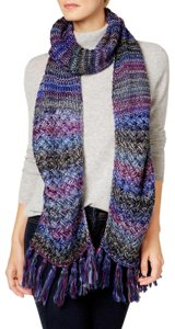 INC International Concepts Blue Metallic 'Midnight' Space Dyed Knit Scarf