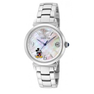 Invicta INVICTA Limited Ed Ladies Silver Stainless Steel Disney Mickey Mouse