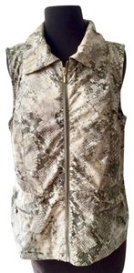 Chico's Athleisure Snakeskin Winter Sporty Vest