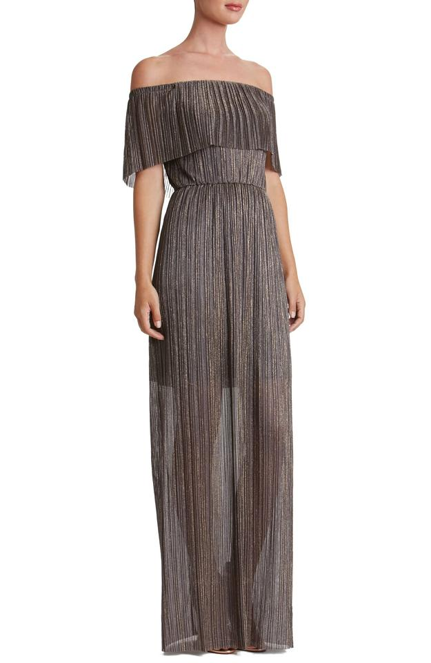 36886658ed Dress the Population Bronze Athena Off-the-shoulder Pleated Cocktail Dress