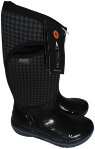Bogs New W/Tag Waterproof Tall Pull On black/gray Boots