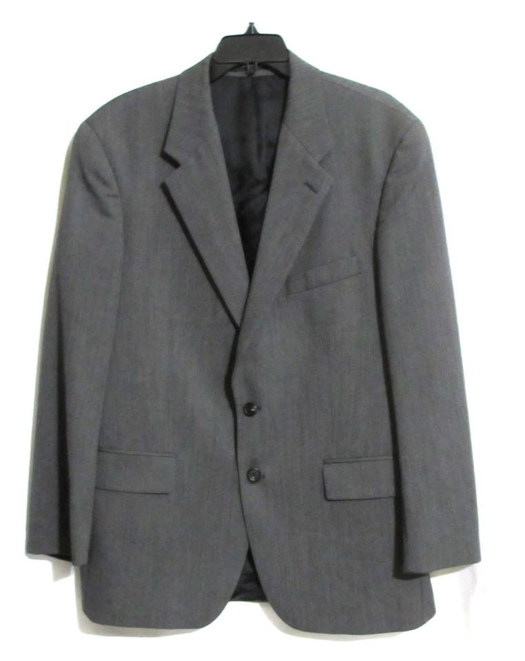 6953a0bb4b1 Chaps Gray Men s By Ralph Lauren Herringbone Sport Coat 42r Blazer ...