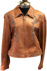 Cripple Creek Tan Leather Jacket