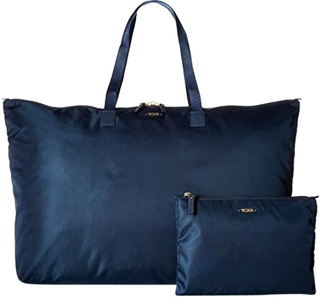 Item - Tote W New 2pcs Packable Large Lightweight Duffel Pouch Blue Nylon Weekend/Travel Bag