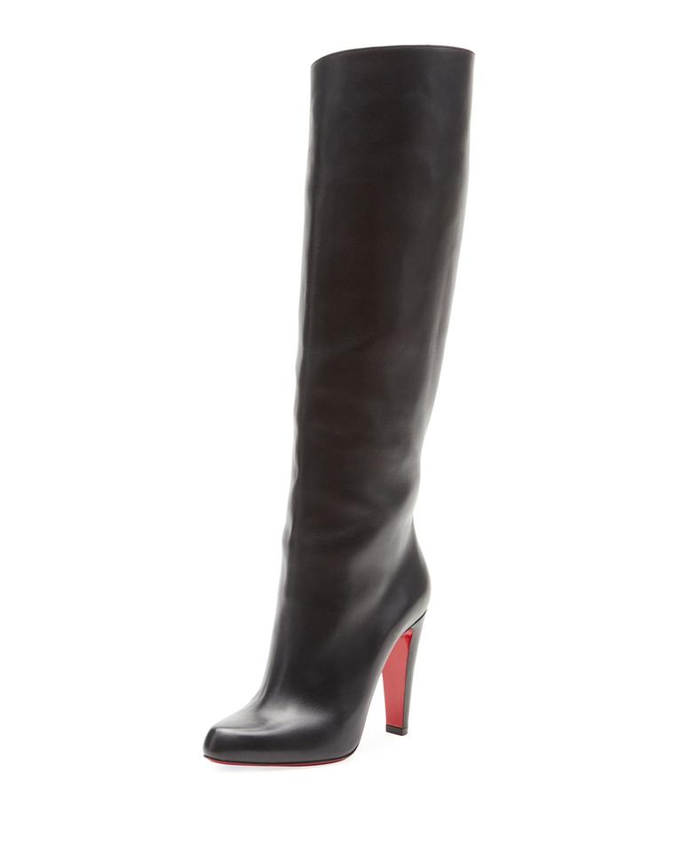 competitive price 90a4a 0b5cb Christian Louboutin Black New Marmara 100 Tall Knee 37 Boots/Booties Size  US 7 Regular (M, B)