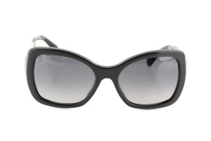 Chanel Chanel Black SIlver tone Chain 5305-A Polarized Butterfly Sunglasses
