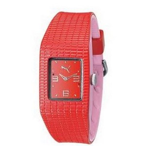 Puma PU202RD0002901 Women's Red Band With Red Analog Dial Watch NWT