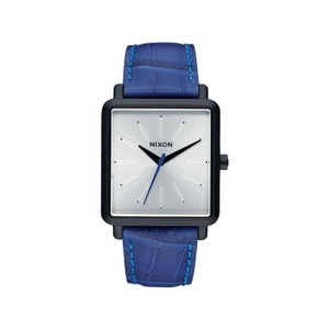 Nixon A472-2131 Men's Blue Leather Bracelet With Silver Analog Dial Watch
