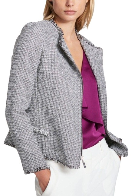 Item - White/Gray Tweed Moro Jacket Size 10 (M)