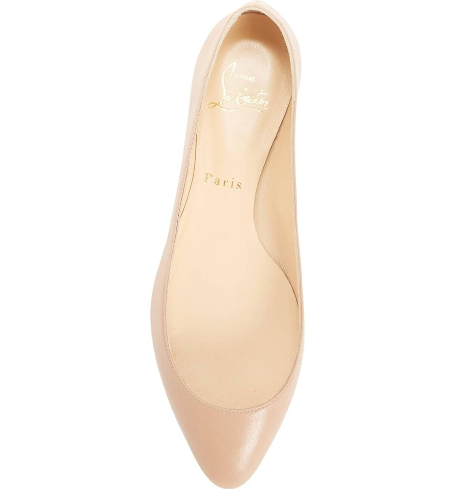 36f3ac0fc85 Christian Louboutin Nude New Eloise Nappa Leather 36 Flats Size US 6 ...