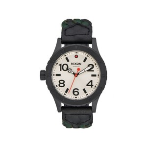 Nixon A467-2357 Unisex Black Fabric Bracelet With Cream Analog Dial Watch