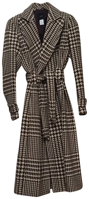 Item - Brown Houndstooth Classic Coat Size 4 (S)