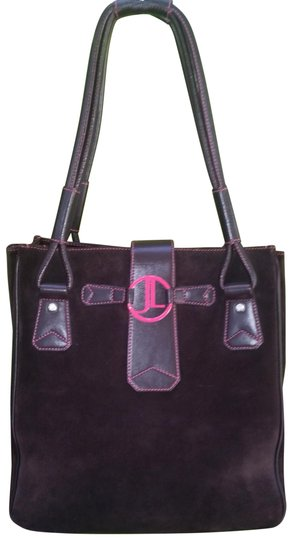 Preload https://img-static.tradesy.com/item/24106167/judith-leiber-dark-chocolate-brown-suede-and-leather-tote-0-1-540-540.jpg