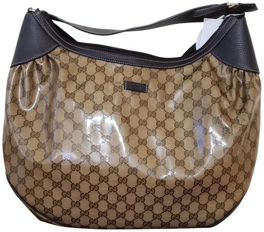 Preload https://img-static.tradesy.com/item/24106172/gucci-monogram-brown-crystal-hobo-bag-0-1-540-540.jpg