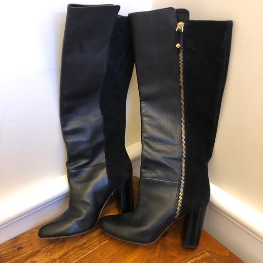 Kate Spade Suede And Leather High Heel Black Boots