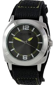 Kenneth Cole 10020086 Men's Black Rubber Band With Grey Analog Dial Watch
