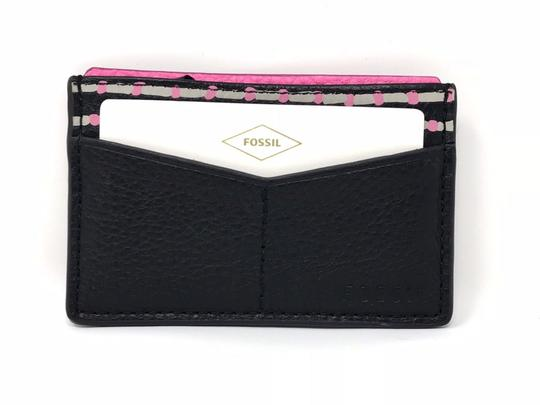 Preload https://img-static.tradesy.com/item/24106214/fossil-black-pebbled-leather-card-case-pink-and-cars-organizer-wallet-0-0-540-540.jpg