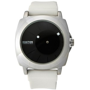 Kenneth Cole 10030593 Men's White Rubber Band With Black Analog Dial Watch