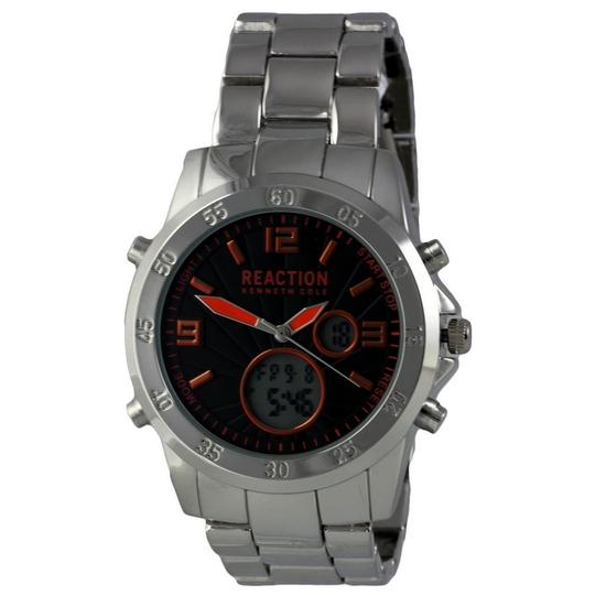 Preload https://img-static.tradesy.com/item/24106286/kenneth-cole-10032093-reaction-men-s-silver-steel-band-with-black-analog-dial-watch-0-0-540-540.jpg