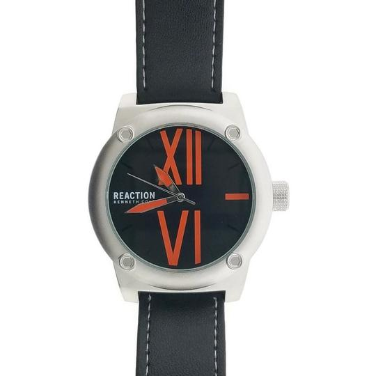 Kenneth Cole 10031256 Men's Black Leather Band With Black Analog Dial Watch