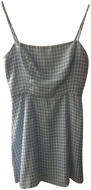 Preload https://img-static.tradesy.com/item/24106348/reformation-blue-gingham-audrey-short-casual-dress-size-2-xs-0-1-650-650.jpg