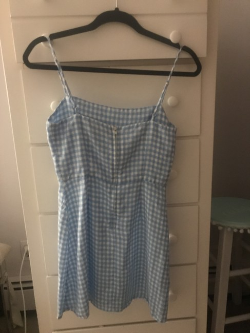 Reformation short dress Blue gingham Sundress Short on Tradesy