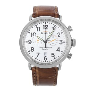 Shinola The Runwell 47mm White Dial Stainless Steel Quartz Mens Watch