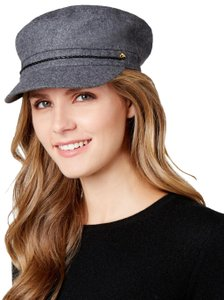 August Hats Wool Blend Button Braided Band Newsboy Cap Hat