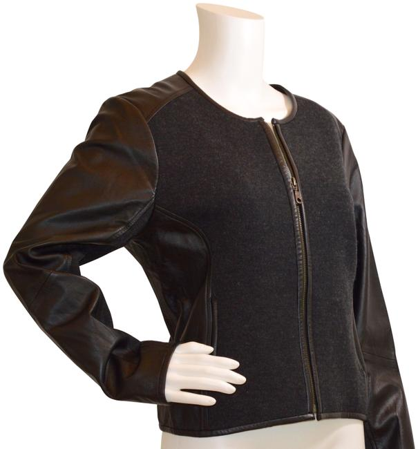 Preload https://img-static.tradesy.com/item/24106387/eileen-fisher-black-new-and-fabric-jacket-size-6-s-0-1-650-650.jpg
