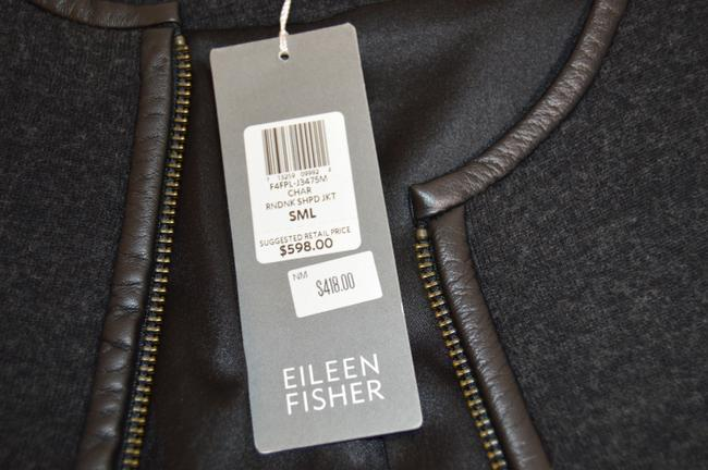 Eileen Fisher And Fabric Fully Lined New With Tags Leather Jacket