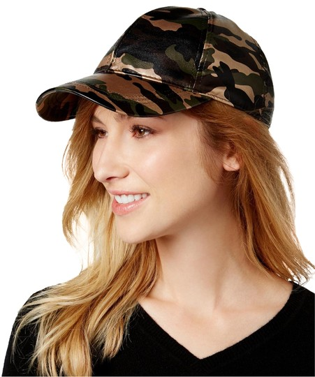 Preload https://img-static.tradesy.com/item/24106405/camouflage-green-faux-leather-baseball-cap-hat-0-1-540-540.jpg