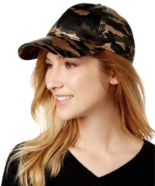 Item - Camouflage Green Faux Leather Baseball Cap Hat