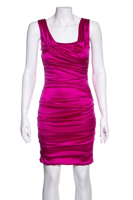 Preload https://img-static.tradesy.com/item/24106421/dolce-and-gabbana-fuchsia-dolce-and-gabbana-silk-blend-gathered-short-cocktail-dress-size-2-xs-0-0-650-650.jpg