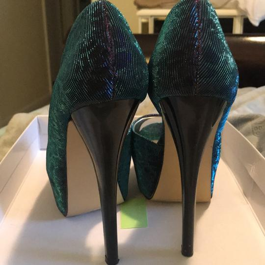Chinese Laundry blue/purple/teal Platforms