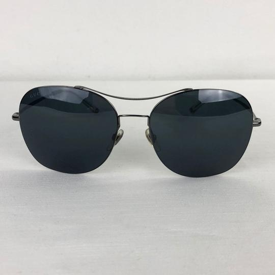 Gucci GUCCI Black Gunmetal Aviators Unisex Sunglasses