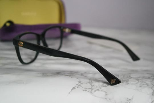 Gucci NEW Gucci 0166O Black Square Gold Logo Eyeglasses Frames Unisex