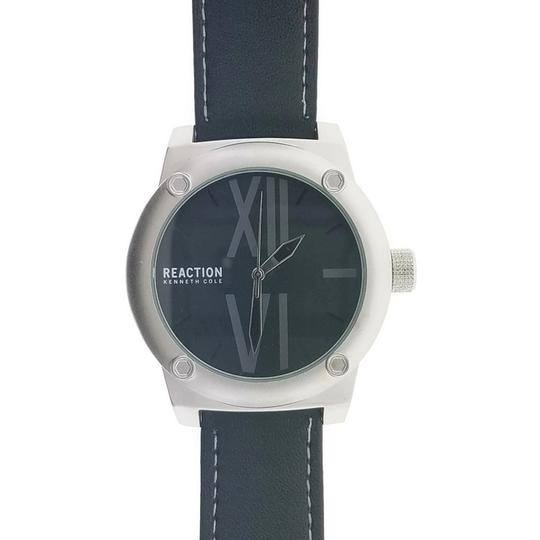 Kenneth Cole 10031257 Men's Black Leather Band With Black Analog Dial Watch