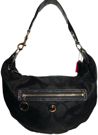Preload https://img-static.tradesy.com/item/24106469/coach-f14873-signature-patent-leather-shoulder-black-canvas-hobo-bag-0-1-540-540.jpg