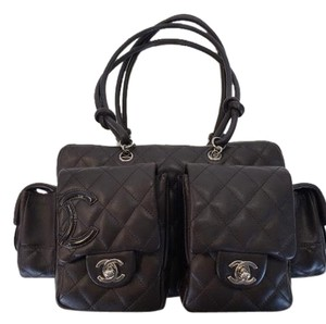 Chanel Chocolate Brown Medium Ligne Cambon Multi-pocket Bag Satchel in Chocolate Brown