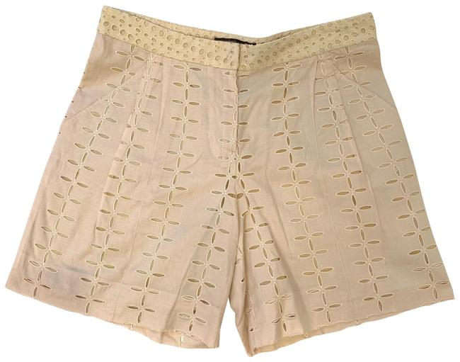 Item - Cream Floral Embroidery 44 Shorts Size 6 (S, 28)