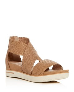Eileen Fisher Wedge Leather Natural Sandals