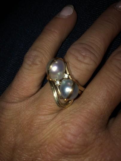 Yellow Gold Black Pearls For The Lady Of The Sea Or Just A Engagement Ring