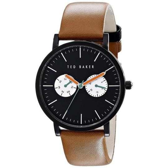 Ted Baker 10024530 Men's Brown Leather Band With Black Analog Dial Watch