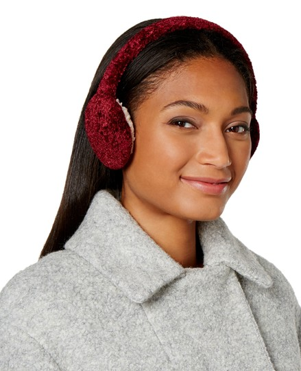 Charter Club Red Chenille Earmuffs