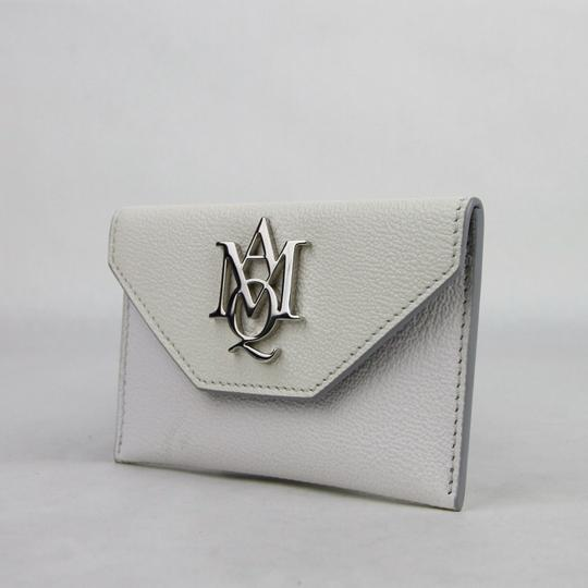 Alexander McQueen White/Ivory Two Tone Leather Card Holder 439197 9870